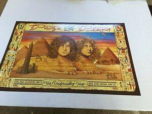 Jimmy Page Robert Plant Tragically Hip Original Concert Poster Shoreline Vintage