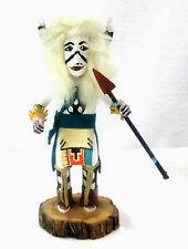 Kachina Doll WHITE BUFFALO by Chavez Wood & Leather Miniature Hunter Figurine