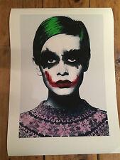 Twiggy Unsigned Giclee print. A3 Size. Like Banksy Mr Brainwash Batman Joker
