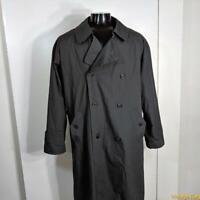 CLOTHIER Long RAINCOAT Rain Trench Coat Mens Size 40L 40 ML M Charcoal gray
