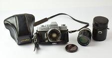 Vintage Minolta SRT-101 Camera + 55mm, 100mm Rokkor Lenses - NO RESERVE - JL4