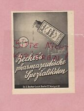 Berlín, publicidad 1942, Dr. E. vaso GmbH corazón-gotas farmacéuticos spezialitä