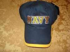 US NAVY USN MILITARY EMBROIDERED CAP HEADWEAR NAVY/GOLD ADJUSTABLE SIZE