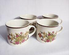 Set of 4 Royal Doulton Gaiety Lambethware England Coffee Tea Mug Cups Floral