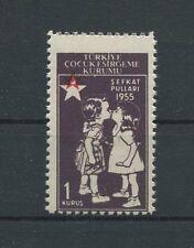 TÜRKEI ABART ROTES KREUZ 1955 ** RED CROSS AID HEALTH ERROR MNH RARE!! d6524