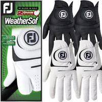 FootJoy Mens Weathersof 2-Pack Golf Gloves White & Black Left Hand Twin Pack