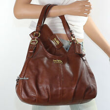 NWT Coach Set Madison Leather Maggie Shoulder Bag Wallet 16503 Brown New RARE