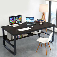 Home Office Student Desk Computer PC Writing Table Workstation With BookShelf