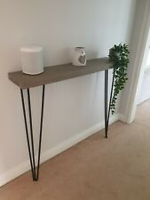 Chunky Grey Rustic Hairpin Console/ hall table/ radiator cover- industrial style