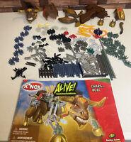 Knex Lot 180+ Pieces with Build Book Plus Extra Parts K'NEX ALIVE BULL