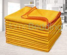 Large Multi-uso Amarillo plumero Paquete de 12 toallas de algodón pulido coches de cocina