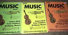 Hayes Publishing Music, Book 1 2 3 Vintage 1989