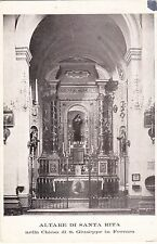 FERRARA - Altare di Santa Rita nella Chiesa di S. Giuseppe in Ferrara 1927