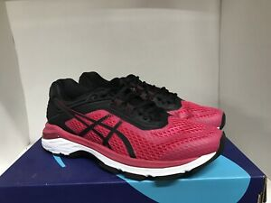 Asics GT-2000 6 Bright Pink/Black/White Running Shoes Womens Size 8