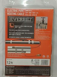 12' Automatic Electric Water Pipe Heat Tape Cable Kit Plastic & Metal
