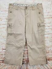 Maurices Women's Beige Cargo Capri Pants Size 7/8 100% Cotton