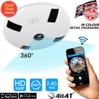 HD Wireless Wifi IP 3D VR Full View IR Security Dome Camera Webcam CCTV UK