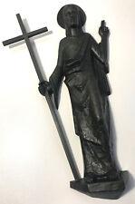 Jesusfigur Bronze Jesus Relief Figur Kreuz Grabschmuck Wandschmuck Religion
