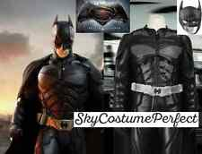 FREE SHIP Batman VS Superman BATMAN Bruce Wayne Costume Cosplay Movie 2016