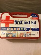 Johnson & Johnson All Purpose First Aid Kit Emergency Survival Gear 140 Pieces