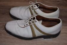FOOTJOY ICON V Saddle Golf Shoes size 9 White and Tan (Reptile Accents)