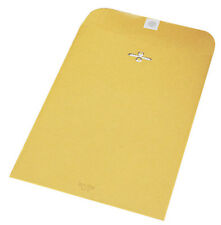 Kraft Clasp Envelope #105 11-1/2 x 14-1/2 Inch. 12 Pack. For Monthly Filing.
