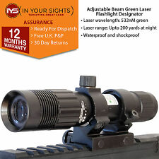Green laser flashlight illuminator /Hunting designator & trigger switch & mounts