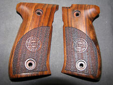 Astra A60 English Walnut PartiallyChk Pistol Grips w/Astra LOGO Beautiful & NEW!