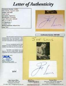 Joe Louis JSA Coa Hand Signed Album Page Autograph