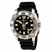 Bulova Men's 96B228 Sea King UHF Black Dial Silicone Band Watch