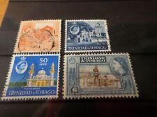 TRINIDAD & TOBAGO, TRINITE', LOT 001, 4 timbres oblitérés, VF cancelled stamps