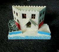 Vintage Hand Made & Painted Southwestern Style Christmas Putz House.