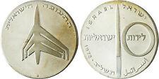 ISRAEL  ,  10  LIROT  ARGENT  AVIATION  1972  ,  SUPERBE