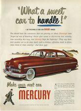 1948 Mercury suicide four-door hardtop red '49 model PRINT AD