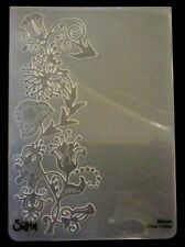 Sizzix Large Embossing Folder FLORAL VINE WITH BIRD fits Cuttlebug & Wizard