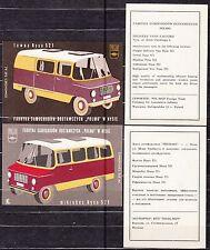 POLAND 1970 Matchbox Label - Cat.G#213/16 set Commercial Vehicle Factory POLMO