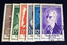 France N° 1066/71 Série Ravel Oblitère TB Qualité Côté 51€