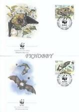 Bulgaria 1989 Mi FDC 3741-44 WWF Animals Pets Tiere Zwierzęta Nietoperz Bat