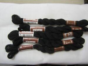 DMC Broder Medicis Tapestry Wool Skein Noir/Black 25 meters