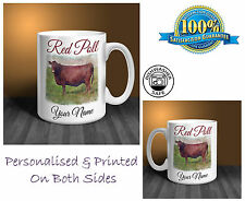 Red Poll Personalised Ceramic Mug: Perfect Gift. (CO4)