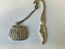 Fishing Basket TG22 Fine English Pewter On A MERMAID Bookmark