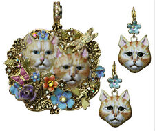KIRKS FOLLY FORGET ME NOT CAT MAGNETIC ENHANCER and EARRING SET goldone  …