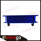 10 Row 10an Universal Engine Transmission Oil Cooler Blue