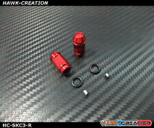 Hawk Tx Switch Knobs Cap Red Short V3 (2pcs, Fit All Brand Tx)