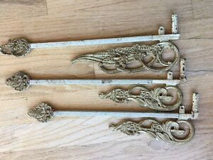 VINTAGE 1920'S Art Deco SWING ARM CURTAIN RODS
