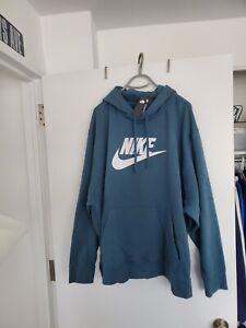 Nike NSW Fleece Hoodie Sz 4XL Pullover Ash Green BV2973-058 NWT