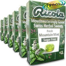 6x Ricola Fresh Mountain Mint Swiss Herbal Drops Lozenges Sweets Sugar Free 45g