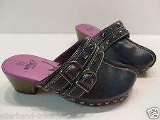 ANSEHEN < miho  CLOGS Gr. 31 blau Pantoffel Mädchen Schuhe Schlappen Holzclogs