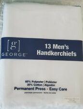 New George Mens White Handkerchiefs 13 Pack