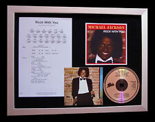 MICHAEL JACKSON Rock With You CD QUALITY MUSIC FRAMED DISPLAY+FAST GLOBAL SHIP